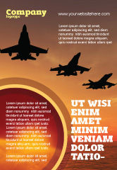 Military: Aircraft Parade Advertentie Template #07701
