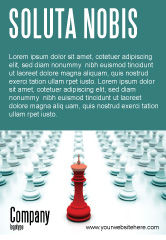 Education & Training: Chess King Klaar Om Te Vechten Advertentie Template #07712