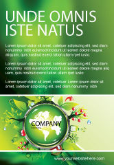 Nature & Environment: Blooming Earth Concept Ad Template #07758