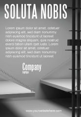 Legal: Prison Cell Ad Template #07771