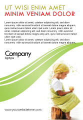 People: Little Girl Advertentie Template #07818
