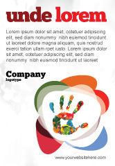 Education & Training: Plantilla de publicidad - impresión colorida de la mano #07840