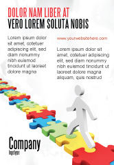 Careers/Industry: Jigsaw Path Ad Template #07872