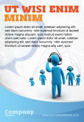 Telecommunication: Plantilla de publicidad - comunidad inalámbrica #07910