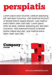 Consulting: Fitting Puzzel Advertentie Template #07946