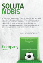 Sports: European Football Field Ad Template #08032