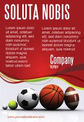 Sports: Sport Balls Ad Template #08071