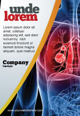 Medical: Lung Cancer Ad Template #08239
