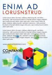 Business Concepts: Plantilla de publicidad - montaje de piezas #08326