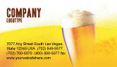Food & Beverage: Beer Tumbler Business Card Template #00750