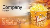 Art & Entertainment: Popcorn Business Card Template #00962