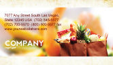 Food & Beverage: Grocery Bag Business Card Template #00972