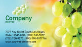 Food & Beverage: White Grape Business Card Template #01281