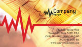 Medical: Cardiogram Business Card Template #01359