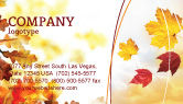 Nature & Environment: Falling Leaves In The Sunset Business Card Template #01454