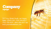 Food & Beverage: Wafers and Honey Business Card Template #01518