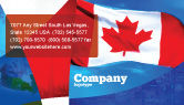 Flags/International: Canadian Flag Business Card Template #01654