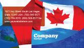 Flags/International: Modello Biglietto da Visita - Bandiera canadese #01654