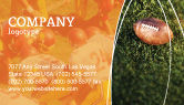 Sports: American Football Play Off Business Card Template #01674