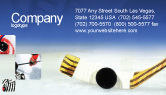 Sports: Hockey Business Card Template #01700