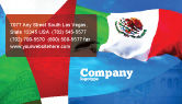 Flags/International: Mexican Flag Business Card Template #01716