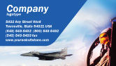 Military: Fighter Aircraft Business Card Template #01747