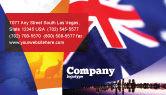 Flags/International: Australian Flag Business Card Template #01774