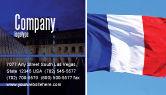 Flags/International: Modello Biglietto da Visita - Bandiera francese #01805