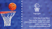 Sports: Basketball Match Business Card Template #01816
