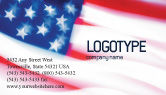 America: Flag of the United States of America Business Card Template #01851