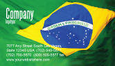 Abstract/Textures: Brazilian Flag Business Card Template #01915