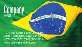 Abstract/Textures: Modello Biglietto da Visita - Bandiera brasiliana #01915