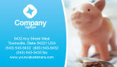 Financial/Accounting: Piggy Bank And Coins Business Card Template #01932