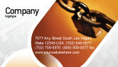 Consulting: Lock This Chain Business Card Template #01934