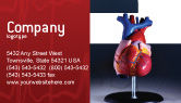 Medical: Heart Model Business Card Template #01960