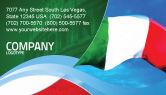 Flags/International: Italian Flag Business Card Template #01964