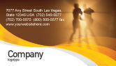 Sports: Boxing Ring Business Card Template #01981