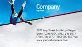 Sports: High Jump Business Card Template #02020