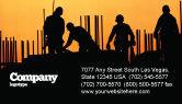 Construction: 명함 템플릿 - 건축 산업 #02021