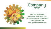 Technology, Science & Computers: Geschäftsmechanismus Visitenkarte Vorlage #02122