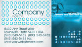 Telecommunication: Telecommunication Systems Business Card Template #02168