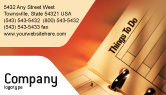 Business: Task List Business Card Template #02185