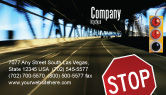 Education & Training: Road Sign Business Card Template #02198
