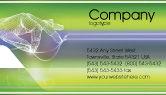 Telecommunication: Technology Business Card Template #02203