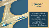 Cars/Transportation: Airport Business Card Template #02212