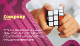 Business Concepts: Puzzle Rubik's Cube Business Card Template #02213