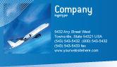 Cars/Transportation: Airship Business Card Template #02241