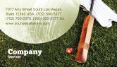 Sports: Cricket Field Business Card Template #02251