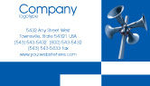 Business Concepts: Loudspeaker Business Card Template #02285