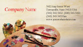 Art & Entertainment: Palette Business Card Template #02287